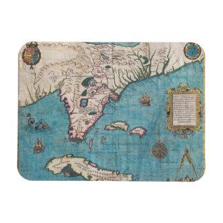 Antike Karte von Florida und von Kuba Magnet