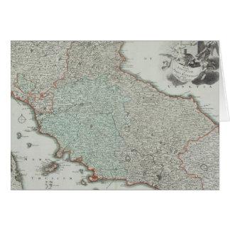 Antike Karte von Lazio, Italien