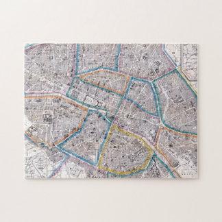 Antike Karte von Paris Puzzle