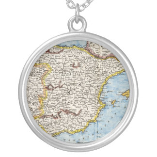 Antike Karte von Spanien u. von Portugal circa 170 Halsketten