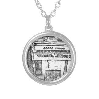 Antike Kirchen-Orgelmusik Halskette Mit Rundem Anhänger