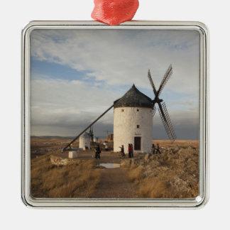 Antike La Mancha Windmühlen, mit Besuchern Silbernes Ornament