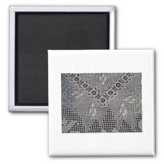 Antike Lefkara Stickerei Quadratischer Magnet