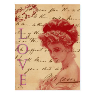 Antike Liebe-Buchstabe-Postkarte
