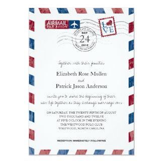 Antike Luftpost-Hochzeits-Einladung 12,7 X 17,8 Cm Einladungskarte