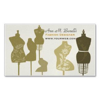 Antike Mannequin-Frauen-Mode-TRENDY Vintages Visitenkartenmagnet