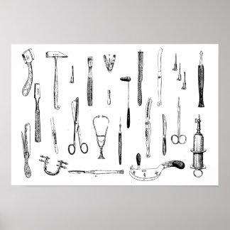 Antike medizinische Instrumente Poster