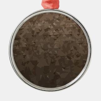 Antike MessingCamouflage-abstrakter niedriger Silbernes Ornament