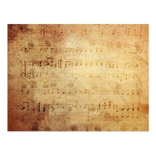 Antike Musik Postkarten