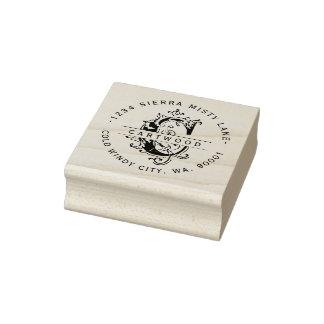 Antike Nachname-Adresse des dekorativen Gummistempel