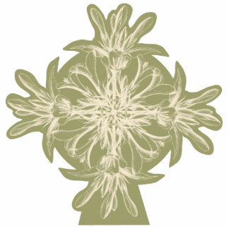 Antike olivgrüne BlumenTischnummer Fotoskulptur