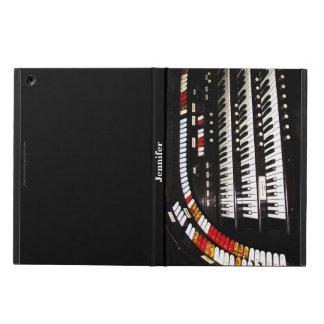 Antike Organ-Tastatur, schwarze Rückseite, Folio