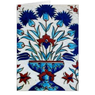 Antike Osmane-Blumenfliesen-Entwurf Karte
