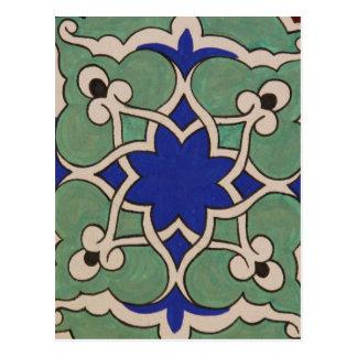 Antike OSMANE islamischer Fliesen-Entwurf Postkarte