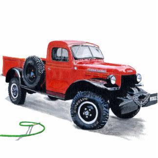 Antike Power-Lastwagen-LKW-Skulptur Freistehende Fotoskulptur