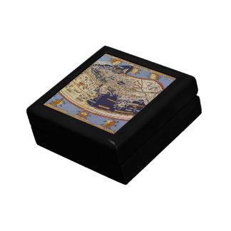 Antike Ptolemaic Weltkarte, Johannes von Arnsheim Schmuckschachtel