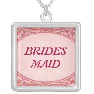 Antike Rolle-Hochzeit Halskette Mit Quadratischem Anhänger