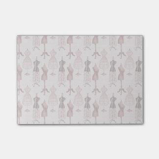 Antike rosa Kleiderformen Post-it Klebezettel