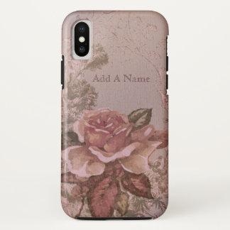 Antike rosa Rosen-Illustration iPhone X Hülle