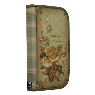Antike Rose (grün) personalisiert Folio Planer