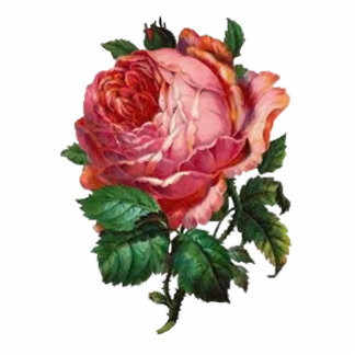 Antike Rose Keychain Fotoskulptur Schlüsselanhänger