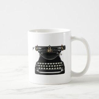 Antike Schreibmaschine Kaffeetasse