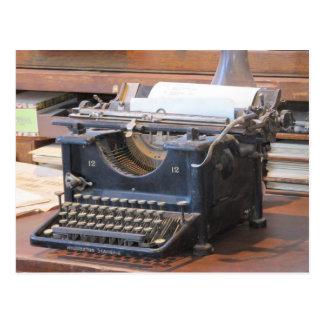 Antike Schreibmaschinen-Postkarte