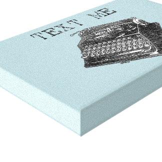 Antike Schreibmaschinenillustration Leinwanddruck