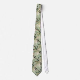 Antike Seekarten-u. Anker-Krawatte Krawatte