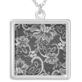 Antike Spitze-Quadrat-Halskette Halskette Mit Quadratischem Anhänger