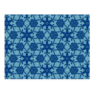 Antike Spitze - Saphir und hellblaues Postkarte