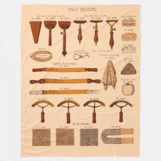 Antike stabile Erfordernisse der Anzeige-1900 Fleecedecke
