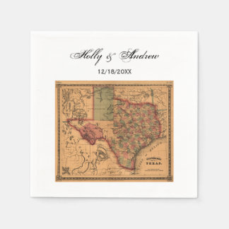 * Antike Texas-Karte #1 Papierserviette