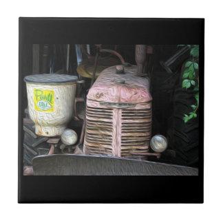 Antike Traktor-feine Kunst-Druck-Keramik-Fliese Keramikfliese
