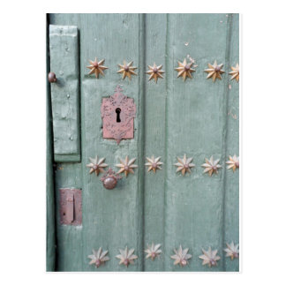 Antike Tür Postkarte