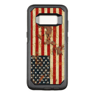 Antike verrostete amerikanische Flagge USA OtterBox Commuter Samsung Galaxy S8 Hülle