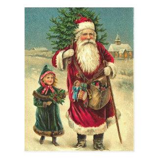 Antike viktorianische Sankt-Baum-Postkarte