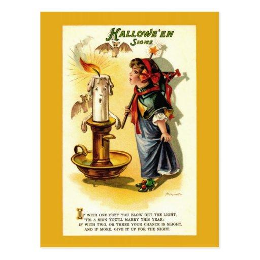 Antike/Vintage Halloween-Vermögens-Postkarte
