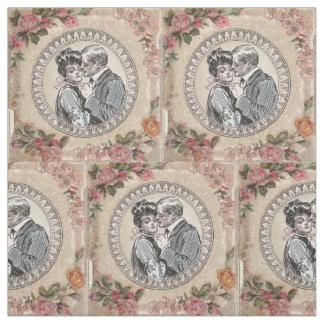 Antike Vintage Paar-Rosen Girly Stoff