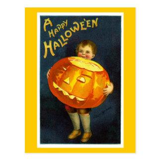 Antike Vintage Postkarte Halloweens JOL