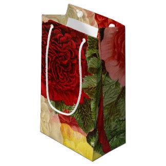 Antike Vintage rote weiße rosa gelbe Rosen Kleine Geschenktüte