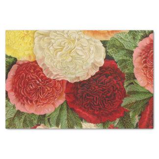 Antike Vintage rote weiße rosa gelbe Rosen Seidenpapier