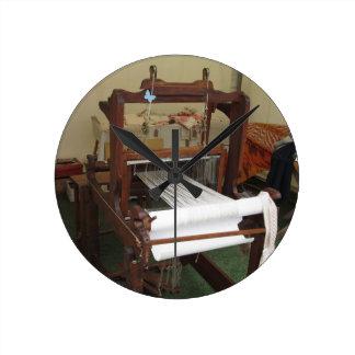 Antike Vintage Spinnermaschinenfunktion Runde Wanduhr