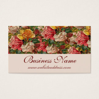 Antike Vintage Themed Rosen-Geschäfts-Karten Visitenkarten