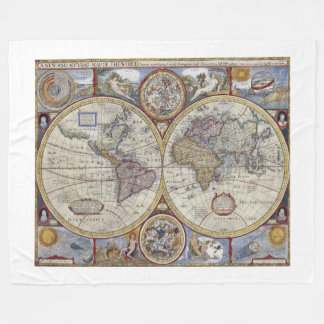 Antike Weltkarte #3 Fleecedecke