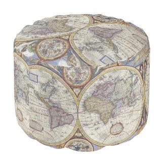 Antike Weltkarte #3 Runder Sitzpuff