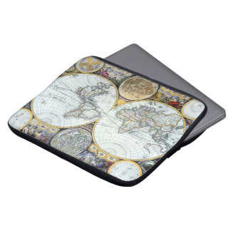 Antike Weltkarte, Atlas Maritimus durch Laptop Sleeve