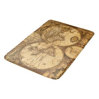 Antike Weltkarte Badematte