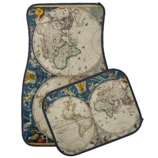 Antike Weltkarte - Blaeu, Joan 1664 Automatte