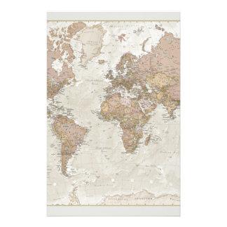 Antike Weltkarte Büropapier
